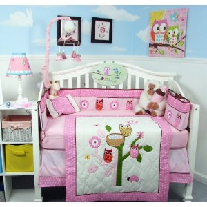 owl baby bedding