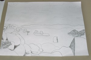 Drawing A Desert Landscape